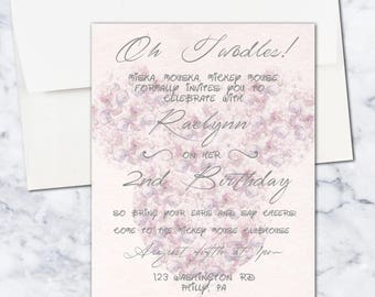 Minnie Mouse Second Birthday Invitation, Girl, 5x7, Pink, Digital Download