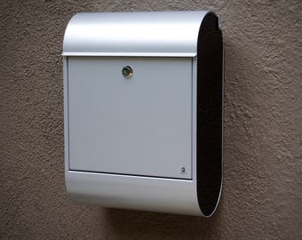 posta wall mounted mailbox gray w black