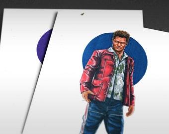 1999 Fight Club | Tyler Durden (Brad Pitt) Iconicharacter Art Print