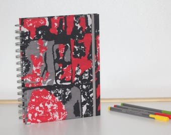 2018 Diary, planner, agenda, organiser, african fabric, ankara journal