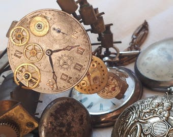 """Clocks"" steampunk hair clip"