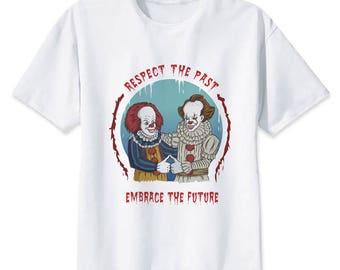 IT Shirt Pennywise T-Shirt It Clown T Shirt Pennywise the clown Fan Art Float Down Here Cartoon Pennywise Men's Shirt Women's