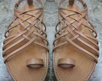 Sandals Women's,Women's Sandals,Greek Santals, Natural Santals,Handmade Sandals,Birthday present,Leather Sandals, PENELOPE ( Special price )