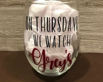 Grey's Anatomy Wine Glass