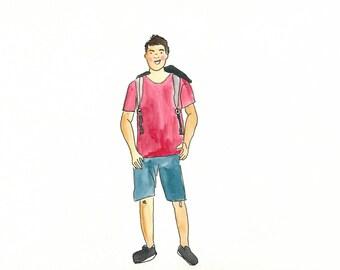 Custom illustrated portrait