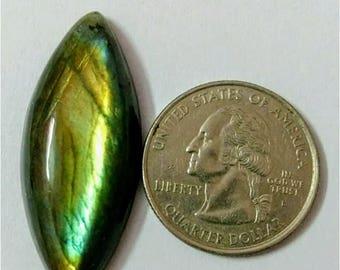 40.10 x 16.60 mm,Marquis Shape Labradorite Cobochon/Green Flash/wire wrap stone/Super Shiny/Pendant Cabochon/Semi Precious Gemstone, Cabs