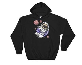 Pug Astronaut - Pug Hoodie - Space Pug - Pug Sweatshirt - Pug Dog Hoodie - Astronaut Sweatshirt - Astronaut Hoodie - Space Sweatshirt