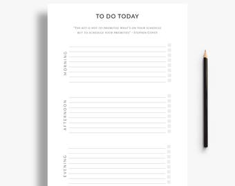 Printable to do list with schedule