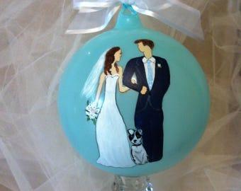 Wedding gift, Wedding ornament, Personalized Wedding ornament