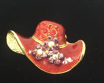 Small Red Hat Pin