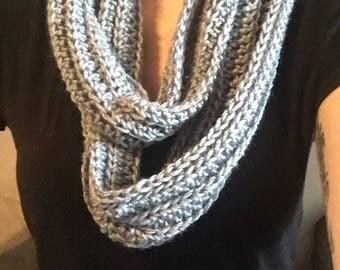 Crochet Scarf - Gray