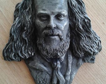 Ian Anderson of Jethro Tull inspired wall plaque