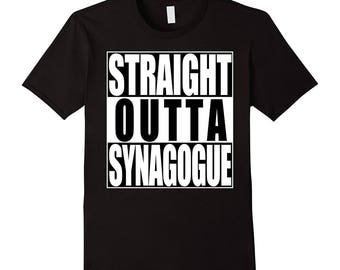 Straight Outta Synagogue T-Shirt Jewish