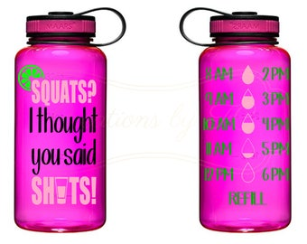 Squats or Shots Water Bottle