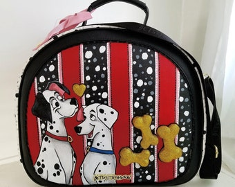 Brand New Custom Hand Painted 101 Dalmatian Betsey Johnnson Luggage bag