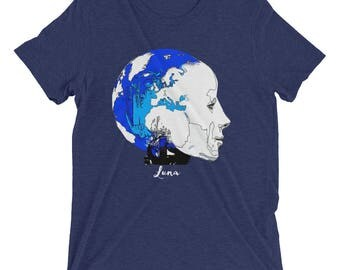 Luna Techno-globalism Unisex Tee by Robots Without Borders