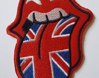 The Rolling Stones UK Patch Iron On Embroidered Patch 8 cm x 6.2 cm 3 Variations