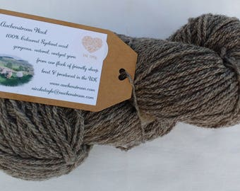 Homegrown Coloured Ryeland Wool - natural, undyed yarn produced in the UK - DK 100g