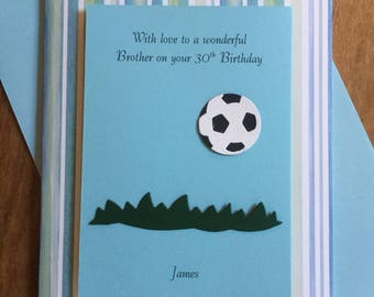 Personalised Male Birthday Card Any Age 10 13th 16th 18th 21st 30th 40th 50th Son Brother Nephew Friend Husband Grandson Football Sailing