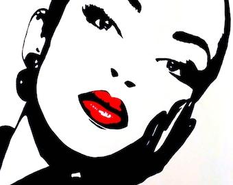Sade Painting (Black,White, &Red)