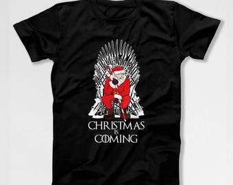 Funny Holiday T Shirt Xmas Gift Ideas Xmas Present Christmas T Shirt Xmas Clothes Holiday Clothing Let It Snow Christmas Is Coming TEP-545