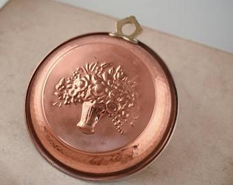 Copper Brass Decorative Wall Hanger Flower Pan