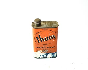 Thum Insect Spray Vintage Tin