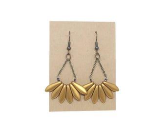 APACHE gold earrings