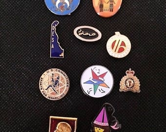 Vintage Foreign Lapel Pins Collection