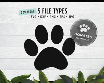 Paw Print SVG | Paw SVG |  Dog Paw SVG | Cat Paw Svg | Pet Svg Digital Cut File for Cricut | Dog Mom Cat Mom Jpg Eps Dxf Png Tiger Cubs Team