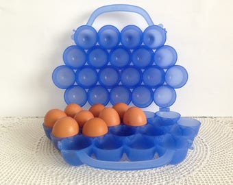 Egg Holder - Egg container - Vintage  Egg Box - Egg basket -  Egg case - Retro Egg Box