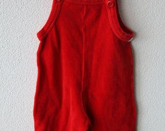 Plush dungarees, Red, CA gr. 62