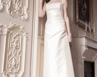Wedding gown - wedding dress silk Atelier