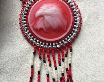 Cabochon Earring and Necklace Set.