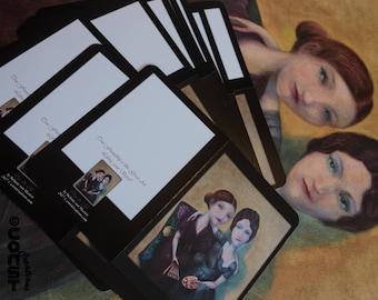 Valentijnsdag Kaart Vriendschap en Kunst - Card Friendship and Art - Vriendinnen - Friends - Kunstenares - Artist - Picasso - Olga