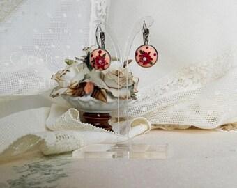 Fimo Monachella earrings with flowers/monachella floral earrings/Fimo Earrings