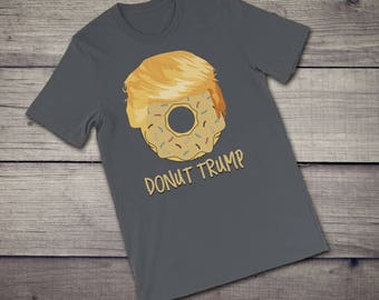 Donut Trump T-Shirt funny hilarious Donald Trump haircut political satire Short-Sleeve Unisex T-Shirt tshirt tee | get laughs with this tee