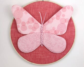 Butterfly Individual Wall Hanging - Coral