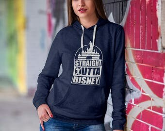 "Disney Castle Themed Sweatshirt / Cozy Crewneck Sweatshirt - ""Straight Outta Disney""/ Pullover Hoodies"