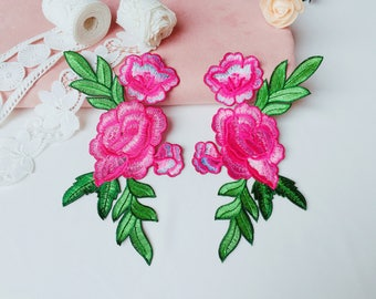 pink large patch/iron on patch/embroidered patch/gorgeous /patch for jacket /diy/applique /exquisite/set
