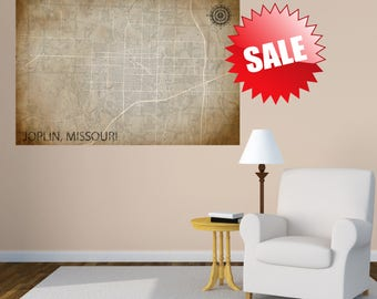 JOPLIN Missouri CANVAS Map Joplin Missouri Poster City Map Joplin Missouri Art Print Joplin Missouri MO City Map Home Decor Gift House Gift