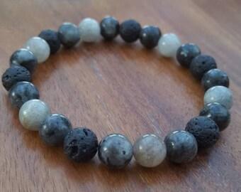 Essential oil diffuser bracelet / All That Shimmers natural diffuser bracelet / Aromatherapy lavastone diffuser bracelet
