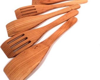 Wooden spatulas from cherry wood- 5 pieces