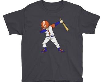 Teen Boy Baseball Shirt - Funny Baseball Player Batter Dabbing T Shirt -  Boy Baseball Tshirt - Baseball T-shirt -Youth Short Sleeve T-Shirt