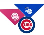 """MLB Chicago Cubs 22"""" square Bandana for Dogs Personalized"""