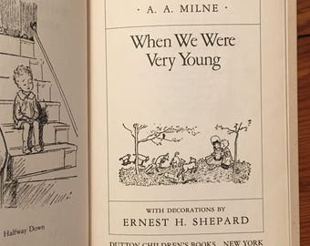 When We Were Very Young, A.A. Milne, E. H. Shepard, 1988 edition of the 1924 original