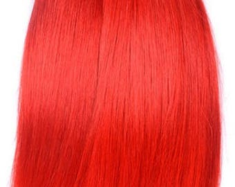 Red hair extensions etsy ombre red straight brazilian hair weave bundles 100 human hair bundles 8 30 pmusecretfo Image collections
