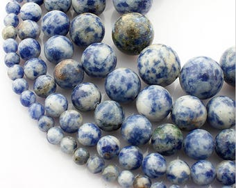 6mm Sodalite Natural Stone Beads Stone Round Loose Beads Gemstone Bead Supply Active