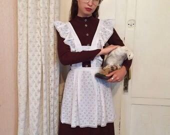 USSR cotton school apron