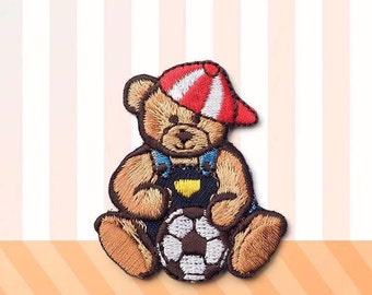 Bear patch,Embroidered patch,Cartoon bear applique,Interesting gift,Iron on patch/Sew on patch